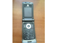 Motorola W377, Grey & Black for sale, in good condition, comes with box, charger & accessories.