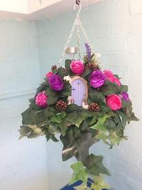 """(New)**fairy** Artificial 12""""Hanging basket"""