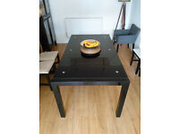 Black Extendable Dining Table - Seats 6-12 People