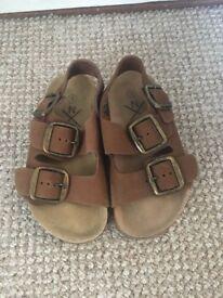 Boys brown next sandals size infant 9
