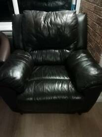 FREE black leather chairs