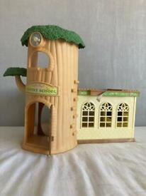 Sylvanian families treehouse school