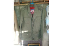 Superdry japan zip button jacket large excellect condition