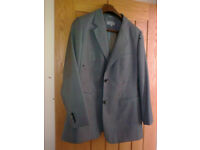 Ladies light grey wool suit, M and S, VGC size 18 jacket, size 16 trousers regular length