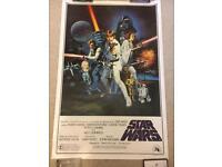 Bootleg Star Wars Movie Poster 80's