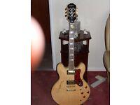 Epiphone Sheraton 11 guitar natural finish