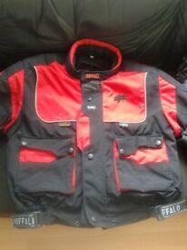 moto bike jacket size medium