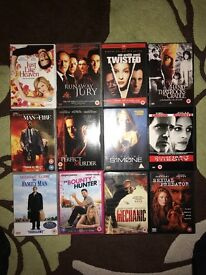 Over 200 dvds comedy thriller action