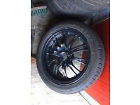 Dunlop sport maxx tyres 225/45/17 6mm with wheels 5/100 ET 48