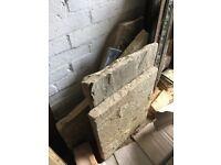 4 pieces of stone slab, Indian sandstone & Yorkstone