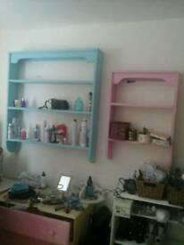 2 very summery wall/flowerpot shelves