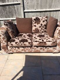 Sofa 3-2-1 swivel chair from DFS £4995.00 used only one year looks new