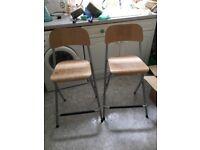 2 IKEA breakfast stools