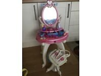 Princess dressing table with stall and lots of accessories