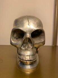 Silver plated skull