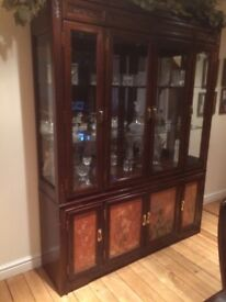 Display Cabinet, very good condition. Being sold due to house move. To be collected.