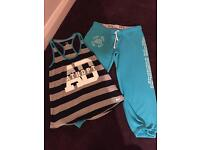 Nike Activewear Vest with 3/4 Pants Size Small