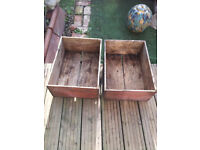 Shabby Chic Wooden Garden Boxes/Containers