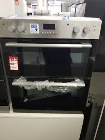 Brand New LOGIK LBUDOX16 Electric Built-under Double Oven - Stainless Steel