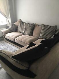 Large left hand corner sofa