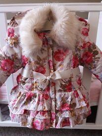 Monsoon baby girls coat 3-6 months