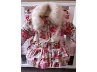 Monsoon baby girls coat 3-6 months