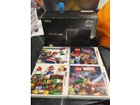 3ds console and 9 games