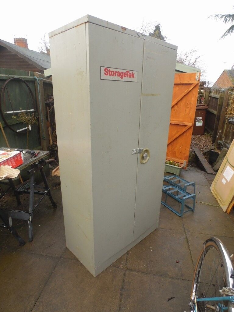 Fire proof storagetek metal cabinet - large for storage of tools/other shed 'stuff' - collect only