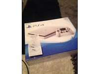 Ps4 slim 500GB white brand new in box 12 months warranty