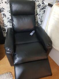 Recliner sofa massage seat