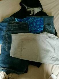 Men's jeans, shorts and jacket
