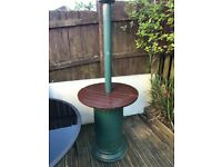 Gas patio heater with bar