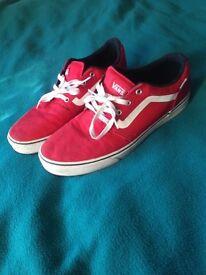 Vans skate shoes red UK11