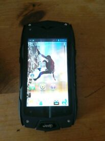 Jeep Z6 dual SIM rugged Android phone. Faulty with screen issues.
