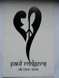 Two Vintage Tour Programmes/Booklets - Paul Rodgers & Everly Bros £5 each
