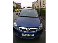 7 Seater Vauxhall Zafira with 1 yr MOT And Full Service