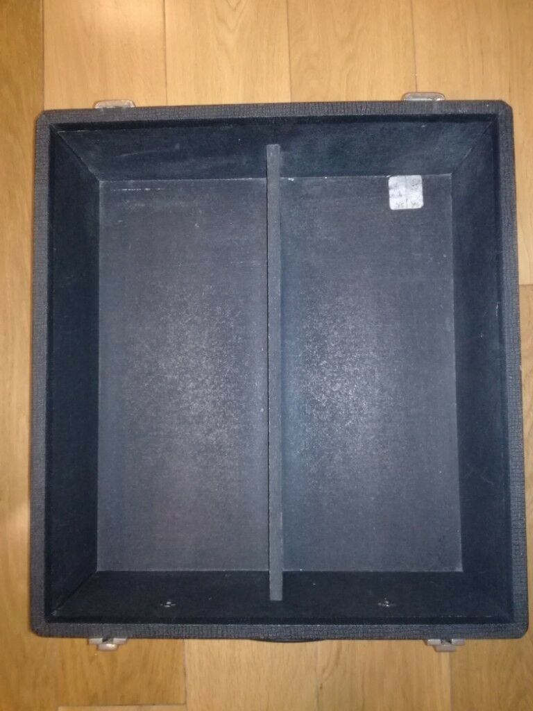 Strong Heavy Duty 7 Inch Vinyl Record Storage And Carry Box Black