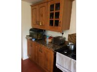 Kitchen oak cabinets and granite worktop units