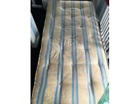 Single mattress spring memory foam