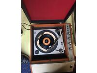 Portable record player from 50s?