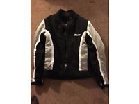 New Weise Jacket with zipped-in quilted liner, spine and elbow shields, size 14