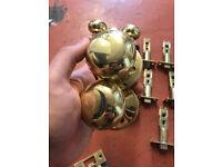 5 Door Handles One with Locck - Brass Colour