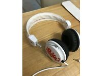 WESC White pair of stylish Headphones in excellent condition fitted with new ear pads.