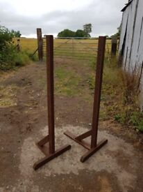 horse jump stands for sale - 2 pairs wooden