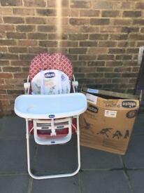 Like New Chicco Pocket Lunch Chair foldable