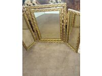 Mirror gold dressing table antique