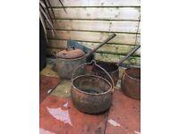 Old cast iron pans
