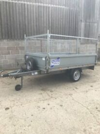 ifor williams trailer 8x5 flatbed, caged sides