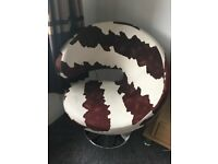 Cow Print Swivel Chair