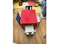 IKEA children's table and 4 chairs
